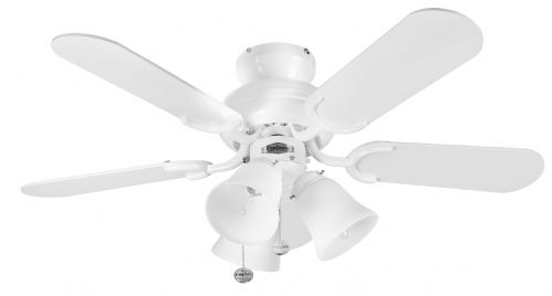 "Fantasia Capri Combi 36"" White Ceiling Fan +  Light 110194"